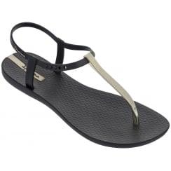 Ipanema Charm Black Sandal