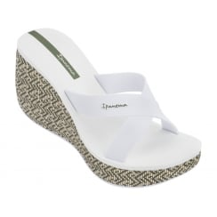 Ipanema Lipstick White Wedge Sandals