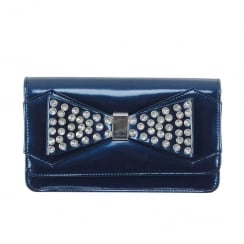 Kate Appleby Ladies Plackton Occasion Bow Clutch Bag  - Navy