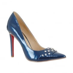 Kate Appleby Darley Pointed Toe Diamante Heeled Shoes - Navy