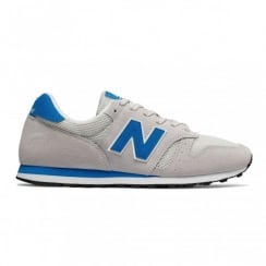 New Balance 373 Urban Grey/Blue Suede Sneakers