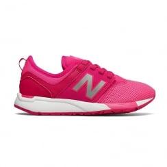 New Balance Kids Girls Junior 247 Pink Fuschia Sneakers