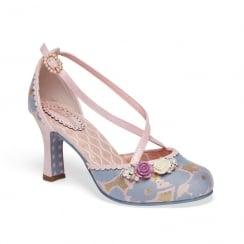 Joe Browns Ladies Evangeline Vintage Style Lilac/Pink Court Shoes