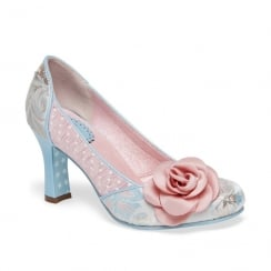 Joe Browns Isabella Floral Pattern Blue/Pink Slip On Court Shoe