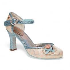 Joe Browns Ophelia Dot Pattern Peach Spotted Court Shoe