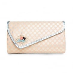 Joe Browns Ophelia Dot Pattern Peach Spotted Clutch Bag