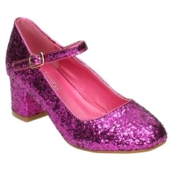 Spot On Girls Glitter Party Shoe - Pink