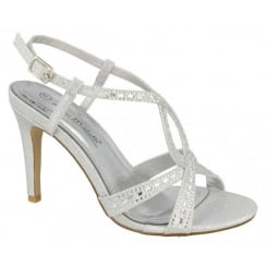 Anne Michelle Jewelled Sandal - Silver