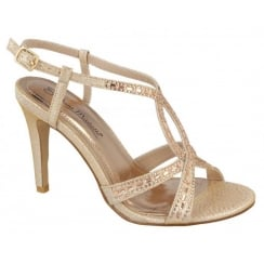 Anne Michelle Jewelled Sandal - Gold