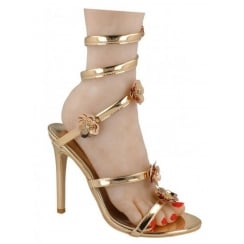 Spot On Twist Around The Leg Sandal