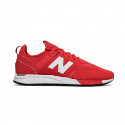 New Balance Mens 247 Red Mesh Sneakers