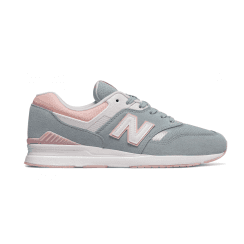 New Balance Womens 697 Pink/Blue Suede Sneakers