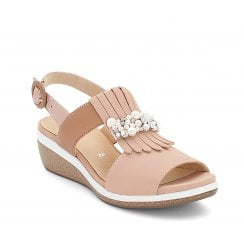 Ara Womens Nude Rose Slingback Sandals