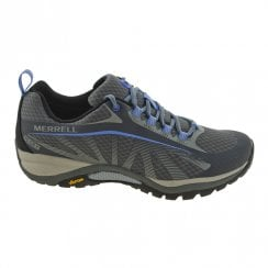 Merrell Womens Siren Edge Waterproof Hiking Shoes Monument Style - Grey/Blue