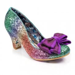 Irregular Choice Lady Ban Joe Mid Heel Court - Multi Glitter