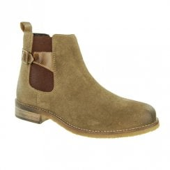 Adesso Womens Zoe Suede Chelsea Ankle Boots - Khaki A4527