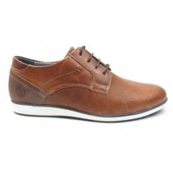 Escape Mans Bear Tan Caramel Casual Lace Up Shoe