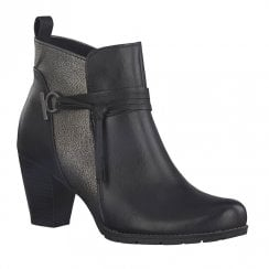 Marco Tozzi Womens Heeled Ankle Boots - Black