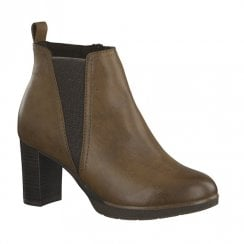 Marco Tozzi Womens Heeled Ankle Boots - Cognac