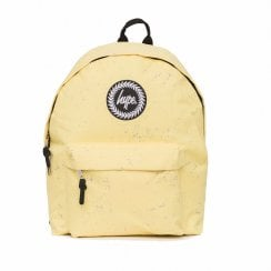 Hype Lemon With Sky Blue Speckle Backpack