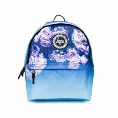 Hype Girls Multi Rose Fade Backpack -  Blue