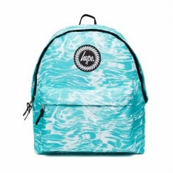 Hype Blue Liquid Marble Backpack - Turquoise
