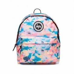 Hype Multi Pastel Sponge Backpack - Blue/Peach