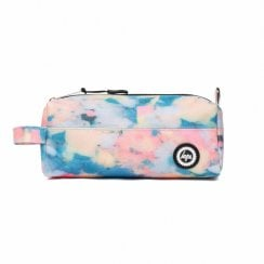 Hype Multi Pastel Sponge Pencil Case - Blue/Peach