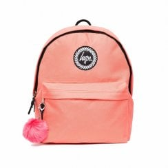 Hype Girls Peach Pom Pom Backpack - Orange