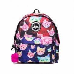 Hype Girls Multi Cosmo Cat Pom Pom Backpack Multi