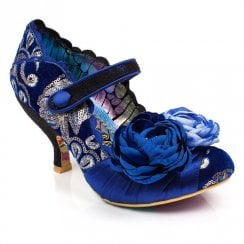 Irregular Choice Upon Thames Velvet Heels - Blue