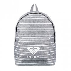 Roxy Sugar Baby Heat Canvas Backpack 16L - Grey/White