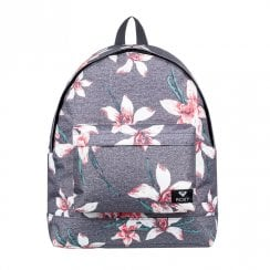 Roxy Be Young Flower Backpack 24L - Grey/White/Red