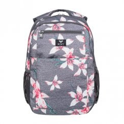 Roxy Here You Are Flower Medium Backpack 24L - Grey/White/Red