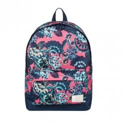 Roxy Sugar Baby Flower Small Backpack 16L - Navy/Pink/Multi