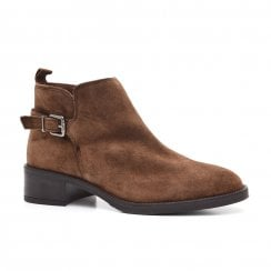 Alpe Giselle Suede Ankle Boot - Tan