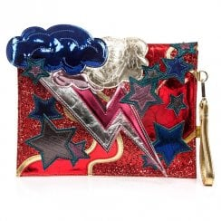 Irregular Choice Ziggy Clutch Bag - Red/Gold