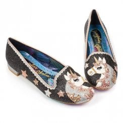 Irregular Choice Loosen The Reins Flats - Black