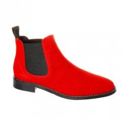 Nicola Sexton Chelsea Red Ankle Boot