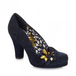 Ruby Shoo Charlie Heeled Court Shoe - Navy