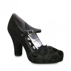 Ruby Shoo Hannah Polka Dot Court Heels - Black