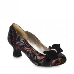 Ruby Shoo Rhea Mid Heel Court Shoes - Rust