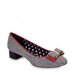 Ruby Shoo June Tweed Low Court Shoes
