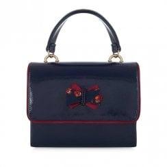 Ruby Shoo Casablanca Glossy Patent Handbag - Navy