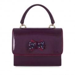 Ruby Shoo Casablanca Glossy Patent Handbag - Burgundy