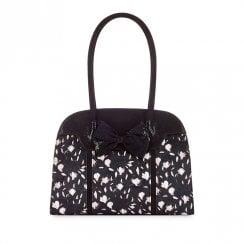 Ruby Shoo Denver Floral Velvet Handle Bag - Black
