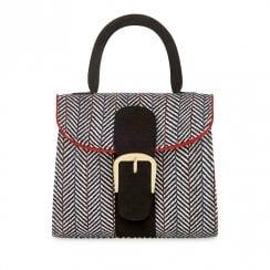 Ruby Shoo Riva Tweed Handbag - Black