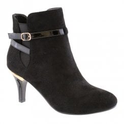 Susst Womens Fashion Heel Ankle Boots - Black