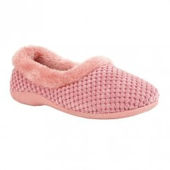 Lotus Minnie Flat Sole Slip On Shoes - Pink
