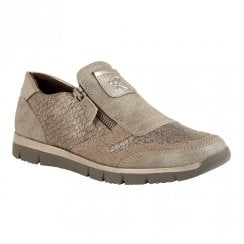 Lotus Relife Cavell Flat Shoes - Stone